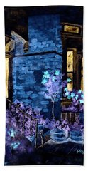 Chelsea Row At Night Hand Towel