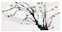 Cherry Tree By Straw Hand Towel
