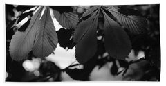 Chestnut Leaves Hand Towel