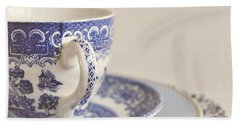 China Cup And Plates Bath Towel by Lyn Randle