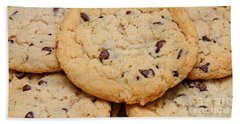 Bath Towel featuring the photograph Chocolate Chip Cookies Pano by Andee Design
