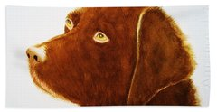 Chocolate Labrador  Hand Towel