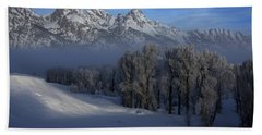 Christmas Morning Grand Teton National Park Hand Towel