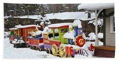 Christmas Train Hand Towel