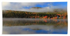Church Across The Lake-panoramic Hand Towel