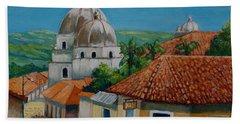 Church Of Pespire In Honduras Hand Towel