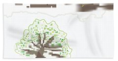 City Tree Bath Towel