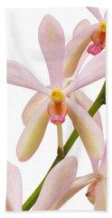 Closeup Pink Orchid Hand Towel by Atiketta Sangasaeng