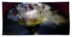 Bath Towel featuring the photograph Cloud Rose Painterly by Clayton Bruster