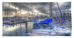 Clouds Over Marina Bath Towel