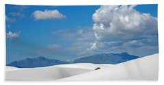 Clouds Over The White Sands Bath Towel