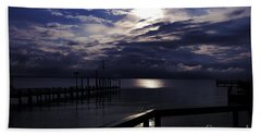 Cold Night On The Water Bath Towel by Clayton Bruster