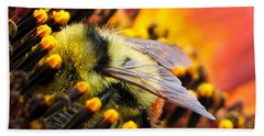 Collecting Pollen Bath Towel by Vivian Christopher