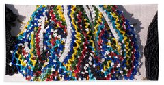 Colorful Beads Jewelery Bath Towel