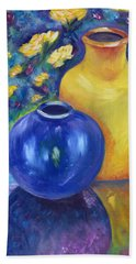 Colorful Jars Bath Towel