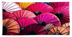 Bath Towel featuring the photograph Colorful Umbrella by Luciano Mortula