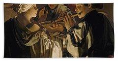 Concert Hand Towel by Hendrick Ter Brugghen