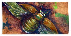 Copper Beetle Bath Towel