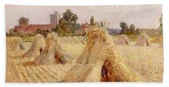 Corn Stooks By Bray Church Hand Towel