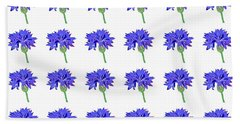 Cornflowers Hand Towel by Barbara Moignard