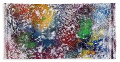 Bath Towel featuring the painting Cosmos by Alys Caviness-Gober