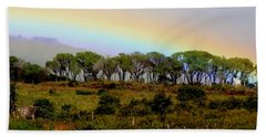 Bath Towel featuring the photograph Costa Rica Rainbow by Myrna Bradshaw