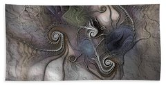 Hand Towel featuring the digital art Creatively Calcified by Casey Kotas