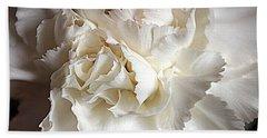 Hand Towel featuring the photograph Crisp Carnation Photo by Deniece Platt