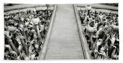 Cycle Of Rebirth At Wat Rong Khun In Thailand Hand Towel