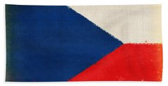 Czech Republic Flag Hand Towel