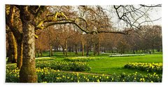 Daffodils In St. James's Park Bath Towel