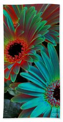 Daisies From Another Dimension Hand Towel by Rory Sagner