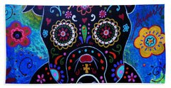 Day Of The Dead Bulldog Hand Towel