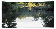 Deer River In Early Sun Hand Towel