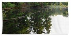 Deer River Reflection Hand Towel