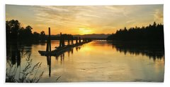 Bath Towel featuring the photograph Delta Sunset by Albert Seger