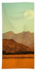 Desert Moonrise Bath Towel