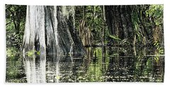 Details Of A Florida River Hand Towel by Janie Johnson