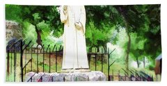 Do-00541 St Charbel Statue Bath Towel by Digital Oil