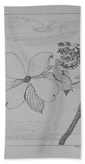 Dogwood  Bath Towel by Daniel Reed