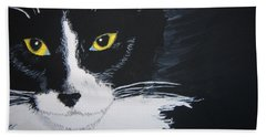 Bath Towel featuring the painting Don't Bug Me by Norm Starks