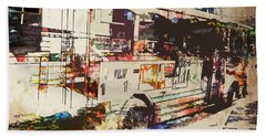 Hand Towel featuring the photograph Double Decker Bus by Phil Perkins