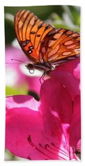 Dreaming Of Butterflies And Pink Flowers Hand Towel