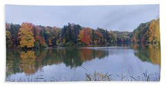 Bath Towel featuring the photograph Durand Lake by William Norton