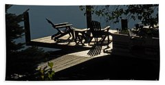 Hand Towel featuring the photograph Early Morning At The Lake by Cindy Manero