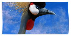 East African Crowned Crane Hand Towel by Methune Hively