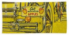 Hand Towel featuring the digital art Eat Washington Apples by Anne Mott