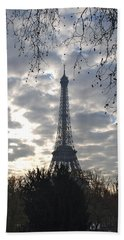 Bath Towel featuring the photograph Eiffel In The Morning by Eric Tressler