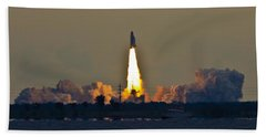 Endeavor Blast Off Bath Towel by Dorothy Cunningham
