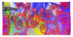 Even In Chaos Find Love Bath Towel by Clayton Bruster